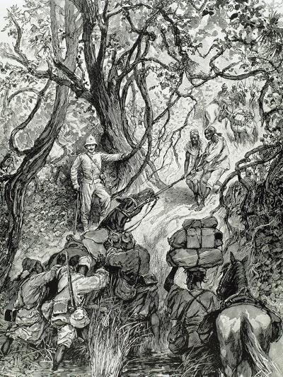 French Expedition Opens Way into the Nieniya Mountains, Sudan, 1893.--Giclee Print