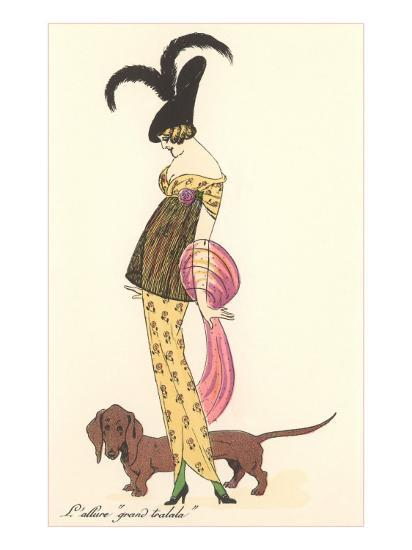French Fashion, Dachshund--Art Print