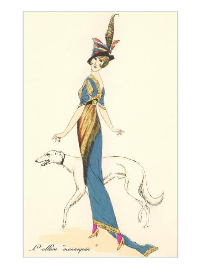 French Fashion, Greyhound--Art Print