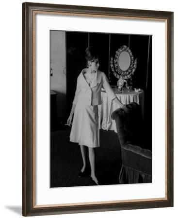 French Fashion Model Catherine Deneuve-Loomis Dean-Framed Premium Photographic Print
