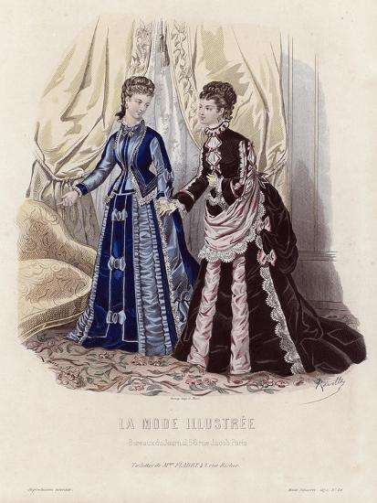 French Fashion Plate, Late 19th Century--Giclee Print