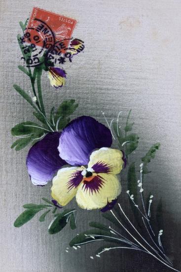 French Flower Postcard, C1900--Giclee Print