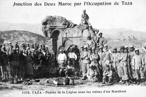 French Foreign Legion by Some Marabout Ruins, Taza, Morocco, 1904