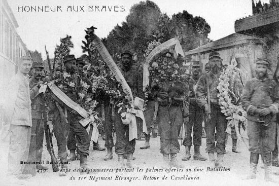French Foreign Legion Honor the Brave, Algeria, 1910--Giclee Print