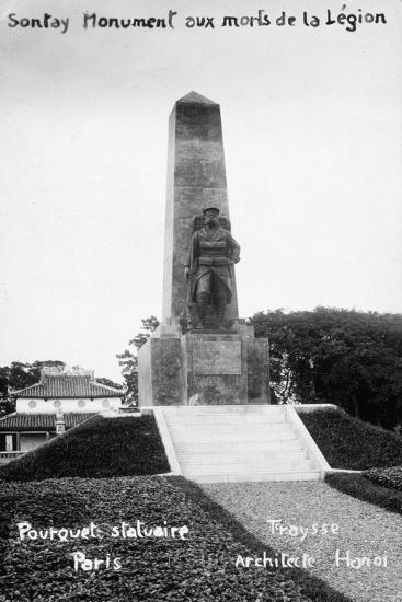 French Foreign Legion Monument, Sontay, Vietnam, 20th Century--Giclee Print
