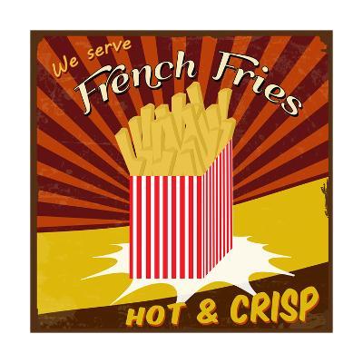 French Fries Vintage Poster-radubalint-Art Print