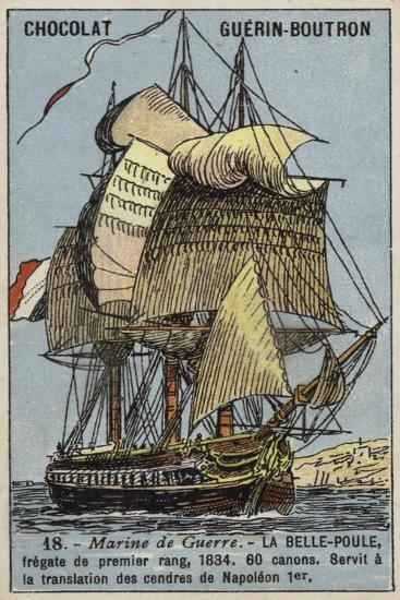 French Frigate Belle Poule, 1834--Giclee Print
