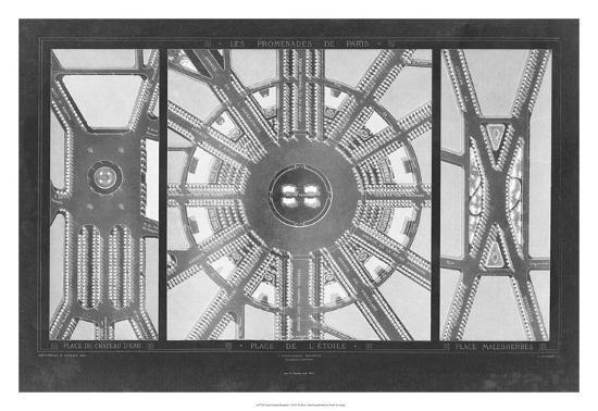 French Garden Blueprint I-Unknown-Giclee Print
