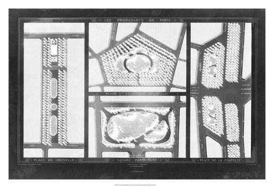 French Garden Blueprint III-Unknown-Giclee Print