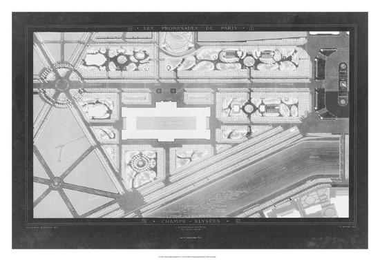 French Garden Blueprint IV-Unknown-Giclee Print