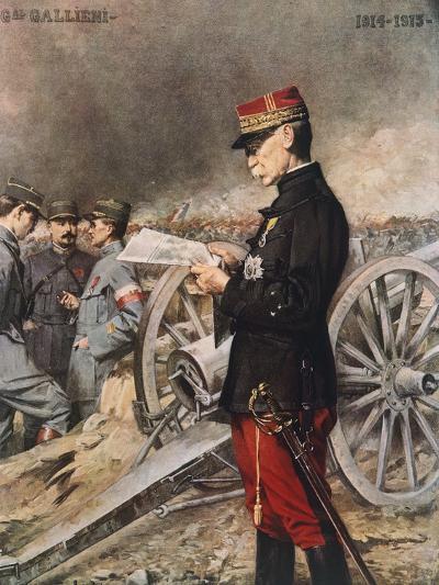 French General Joseph-Simon Gallieni, 1916-Ferdinand Roybet-Giclee Print