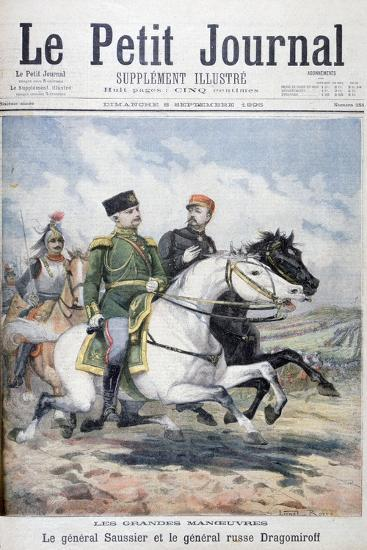 French General Saussier and Russian General Dragomirov, 1895-F Meaulle-Giclee Print
