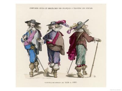 "French ""Gentilshommes"" Dressed in the Height of Male Fashion--Giclee Print"