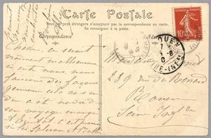 Handwritten Postcard Sent to Madame J. Monet (Ink on Paper) (Verso for Recto See 233965) by French
