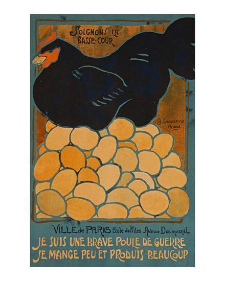 French Hen-Dovanne-Art Print