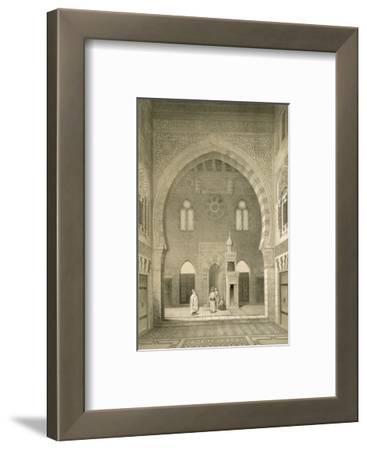 Interior of the Mosque of Qaitbay, Cairo (Litho)