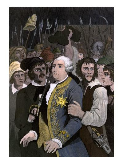 French King Louis Xvi Threatened by a Revolutionary Mob at the Tuileries, Paris, 1792--Giclee Print
