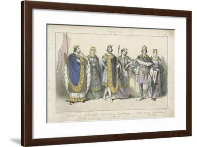French Kings and Queens of the 12th and 13th Century--Framed Giclee Print