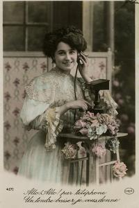French Lady on Phone