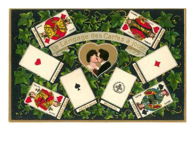 French Language of Playing Cards--Art Print