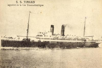 French Line, Cgt, Dampfschiff S.S. Timgad--Giclee Print
