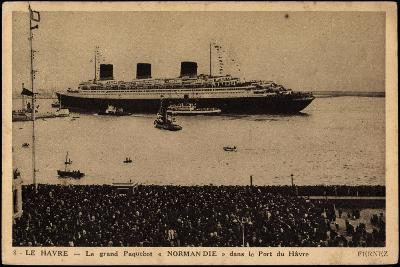 French Line, Cgt, Paquebot Normandie, Dampfschiff--Giclee Print