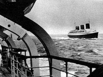 French Liner 'Normandie' at Sea, June 1935--Photographic Print