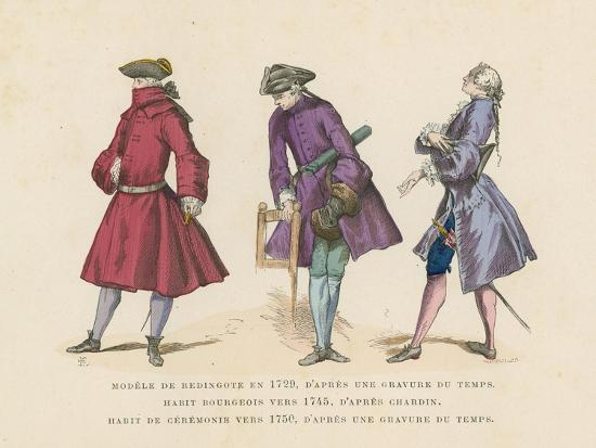 French Men's Fashions, 18th Century--Giclee Print