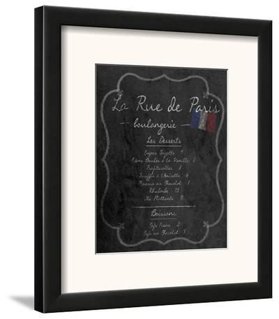 French Menu II--Framed Art Print