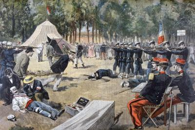 French Military Manoeuvres: First-Aid Workers, 1897--Giclee Print