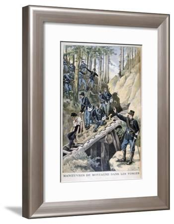 French Military Manoeuvres in the Vosges Mountains, 1896-F Meaulle-Framed Giclee Print