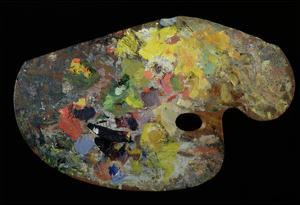 Monet's Palette (Wood) by French
