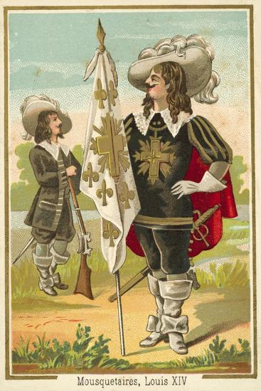 French Musketeers of the Time of Louis XIV--Giclee Print