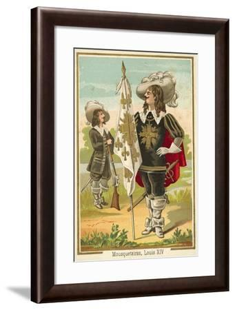 French Musketeers of the Time of Louis XIV--Framed Giclee Print