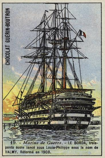 French Naval School Ship Borda--Giclee Print