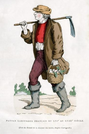 French Peasant Farm Labourer, 16th Century (1882-188)--Giclee Print