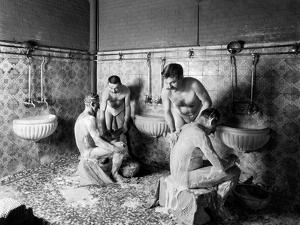 A Hammam in Paris, c.1900 by French Photographer