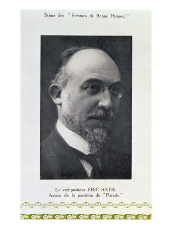 Eric Satie (1866-1925), French Composer, Portrait Photograph (B/W Photo)