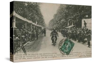 French Motorcycle Grand Prix, Fontainebleau, 22 June 1913. Lavanchy Winning