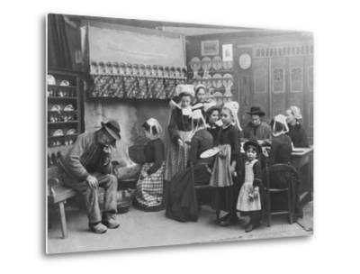 Interior of a Breton Pancake Restaurant, Finistere, c.1900