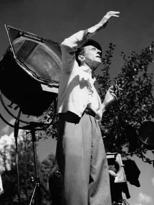 Jean Cocteau on the set of 'La Belle et La Bete', 1946 (b/w photo) by French Photographer