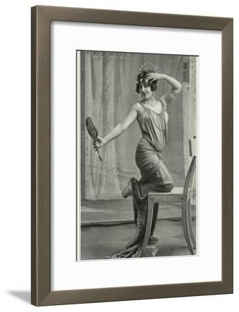 Madame Regina Badet as Sappho, from 'Le Theatre', 1912