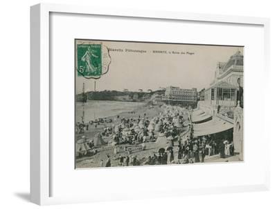 Picturesque Biarritz - Biarritz, Queen of Beaches. Postcard Sent in 1913