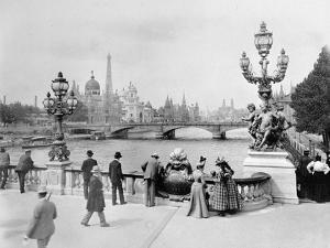 Pont Alexandre III - Exposition Universelle de Paris En 1900 by French Photographer