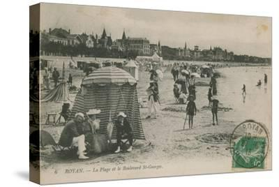 Postcard of the Beach and Boulevard St Georges, Royan, France Sent in 1913