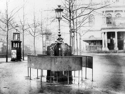 Vespasienne (Public Urinal) on the Grands Boulevards, Paris, C.1900 (B/W Photo)