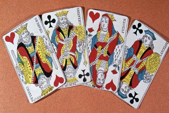 French playing cards, 19th century-Unknown-Giclee Print