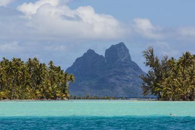 French Polynesia, Bora Bora. Mountain Peaks Seen from Tahaa Lagoon-Alida Latham-Photographic Print
