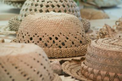 French Polynesia, Island of Rurutu. Traditional Woven Hats-Cindy Miller Hopkins-Photographic Print