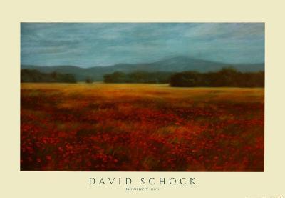 French Poppy Fields-David Schock-Art Print